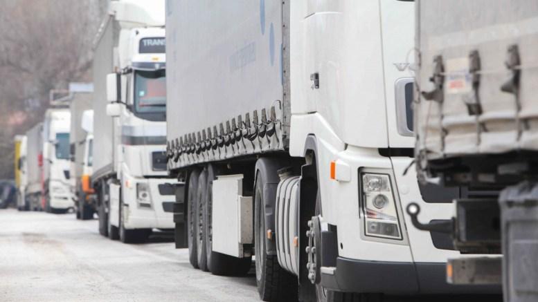 File Photo: Φορτηγά περιμένουν για να περάσουν από το τελωνείο του Προμαχώνα ΑΠΕ-ΜΠΕ, Pixel, Σωτήρης Μπαρμπαρούσης