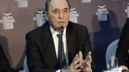 Ο υπουργός Ενέργειας και Περιβάλλοντος Γιώργος Σταθάκης στο Οικονομικό Φόρουμ Δελφών που έγινε στο Ευρωπαικό Πολιτιστικό Κέντρο Δελφών. ΑΠΕ-ΜΠΕ, ΟΡΕΣΤΗΣ ΠΑΝΑΓΙΩΤΟΥ