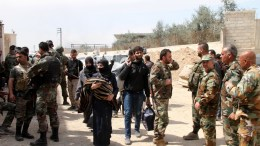 Hundreds of civilians leave rebels-held Eastern Ghouta in the countryside of Damascus, Syria, 15 March 2018. EPA, YOUSSEF BADAWI