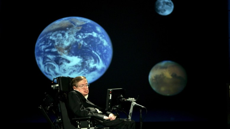 Professor Stephen Hawking delivers a speech entitled 'Why We Should Go Into Space' at the The George Washington University in Washington, DC, USA, 21 April 2008. British renowned physicist Stephen Hawking has died at the age of 76, according to media reports citing a spokesperson for his family. EPA, STEFAN ZAKLIN