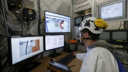 FILE PHOTO.  An engineer makes a demonstration, during a presentation. EPA, SALVATORE DI NOLFI