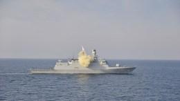 File Photo: Τουρκική κορβέτα εκτελεί βολή κατευθυνόμενου βλήματος. Φωτογραφία via Τουρκικό Ναυτικό.