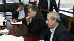 FILE PHOTO.  Ο υπουργός Οικονομικών Ευκλείδης Τσακαλώτος (2Δ)  ΑΠΕ-ΜΠΕ, ΧΑΛΚΙΑΔΑΚΗΣ ΝΙΚΟΣ