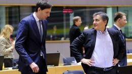 File Photo: Dutch Finance Minister Wopke Hoekstra (L) and Greek Finance Minister Euclid Tsakalotos (R) during European Finance Ministers' meeting in Brussels EPA, OLIVIER HOSLET