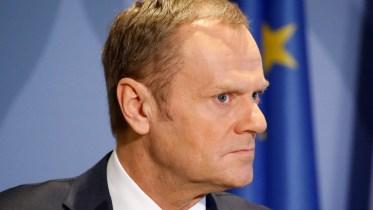 File Photo: Ο πρόεδρος του Ευρωπαϊκού Συμβουλίου, Ντόναλντ Τουσκ EPA, JULIEN WARNAND