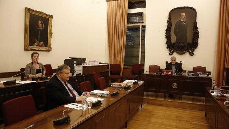 Ο βουλευτής της ΔΗΣΥ Ευάγγελος Βενιζέλος εικονίζεται στην συνεδρίαση της Ειδικής Κοινοβουλευτικής Επιτροπής «Για τη διενέργεια Προκαταρκτικής Εξέτασης σύμφωνα με την απόφαση της Ολομέλειας της Βουλής που λήφθηκε κατά τη συνεδρίαση της 21ης Φεβρουάριου 2018 σχετικά με την υπόθεση NOVARTIS».  Τρίτη 13 Μαρτίου 2018. ΑΠΕ-ΜΠΕ, ΑΛΕΞΑΝΔΡΟΣ ΒΛΑΧΟΣ
