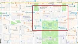 Χάρτης της περιοχής που έχει αποκλειστεί Πηγή: Google Maps