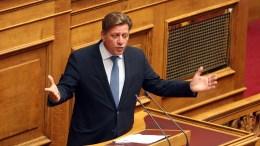 File Photo: Ο βουλευτής της ΝΔ Μιλτιάδης Βαρβιτσιώτης μιλά στην Ολομέλεια της Βουλής στη συζήτηση επίκαιρων ερωτήσεων προς την Κυβέρνηση. ΑΠΕ-ΜΠΕ,Αλέξανδρος Μπελτές