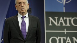 FILE PHOTO: US Secretary for Defense James Norman 'Jim' Mattis attends a media conference at the end of the meeting of North Atlantic Treaty Organization (NATO) Defence Ministers at the NATO headquarters in Brussels, Belgium, 15 February 2018. NATO defense ministers earlier the same day began a two-day meeting. EPA.OLIVIER HOSLET