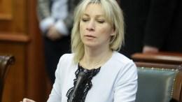 File Photo, Russian Foreign Ministry spokeswoman Maria Zakharova.  EPA, ANDREJ CUKIC