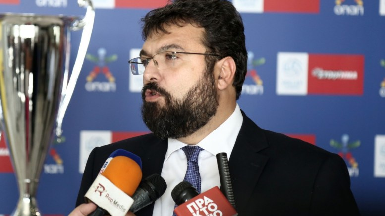 File Photo: Ο υφυπουργός Αθλητισμού, Γιώργος Βασιλειάδης ΑΠΕ-ΜΠΕ, ΘΑΝΑΣΗΣ ΚΑΜΒΥΣΗΣ