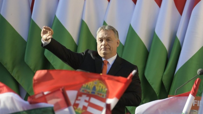 File Photo, President of the ruling Fidesz party, Prime Minister Viktor Orban waves as he attends the final electoral rally of Fidesz in Szekesfehervar, some 63km southwest of Budapest, Hungary, 06 April 2018. Hungary will hold its general election on 08 April. EPA, ZSOLT SZIGETVARY HUNGARY OUT