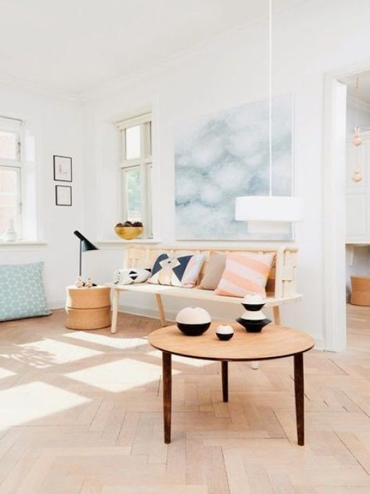Comment donner un look scandinave votre salon h ll blogzine - Deco murale scandinave ...