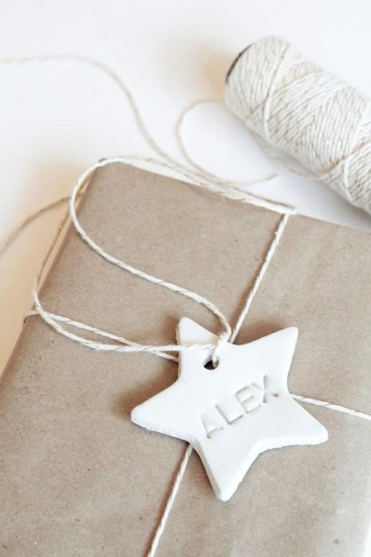 Etiquette cadeau céramique