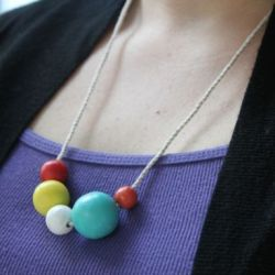 DIY Painted Wooden Bead Necklace