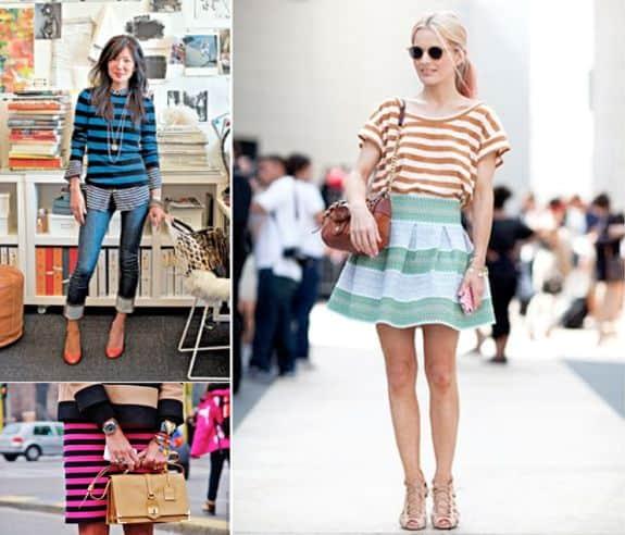 wearing stripes