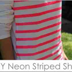 DIY Neon Striped Shirt