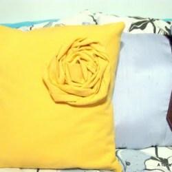 DIY Rosette and Tie Pillow Tutorial
