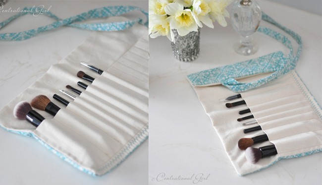 diy make-up brush holder