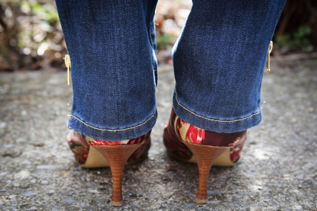 DIY Ankle Zipper Jeans
