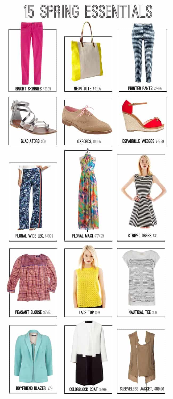 15 Spring Essentials