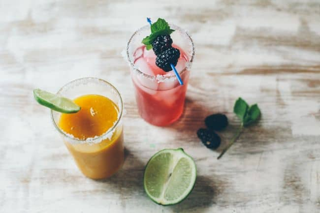 Blackberry & Mango Mint Margaritas