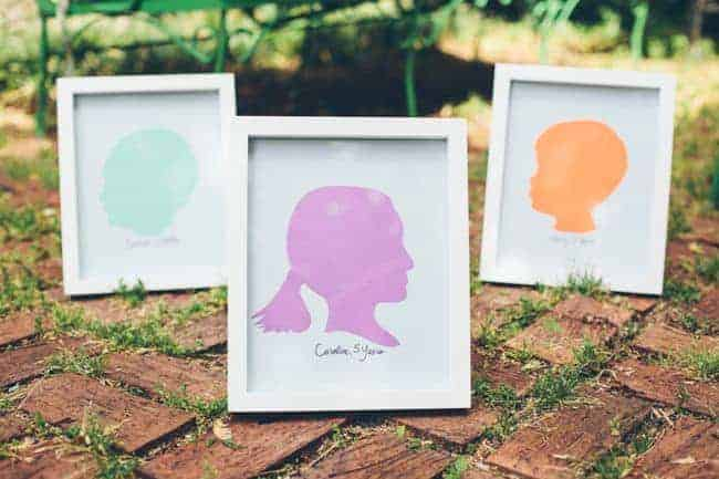 How to Make Silhouettes for Mother's Day