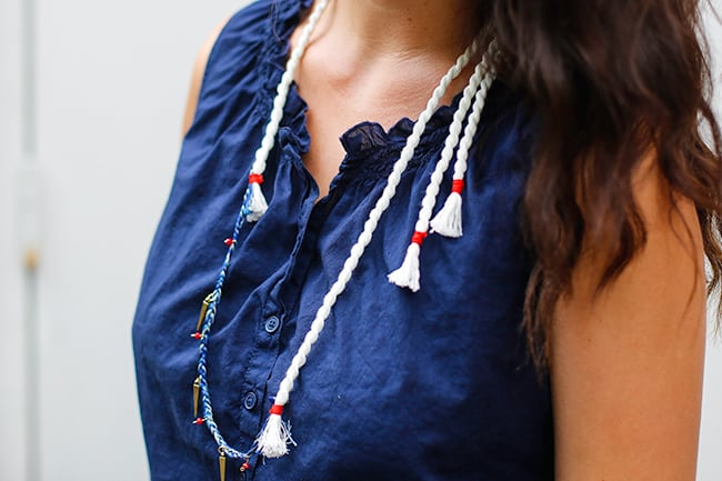 DIY Anthropologie Rope Necklace