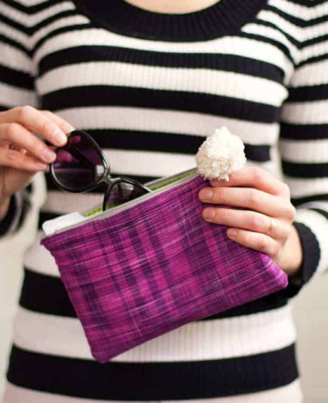 DIY Pom Pom Clutch | Hello Glow