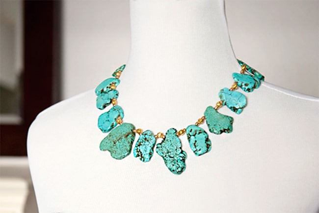Turquoise necklace | Hello Glow