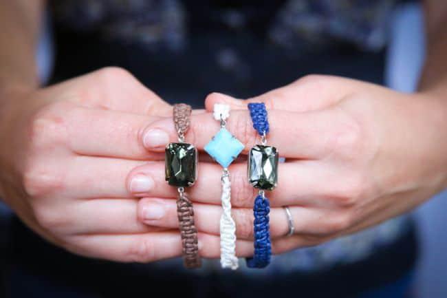 DIY Jewel Macrame Bracelets | Hello Glow