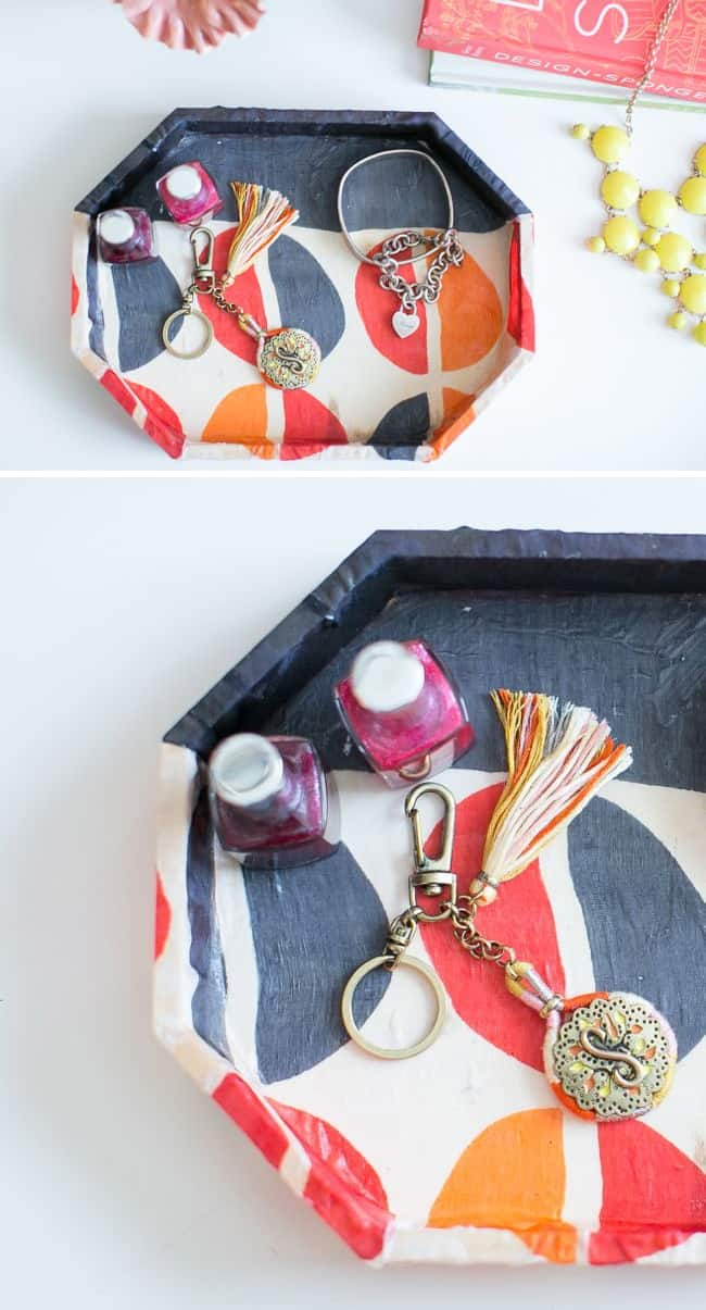 Jewelry Tray from Old Scarf | Hello Glow