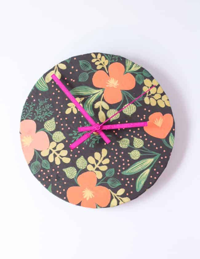 DIY Upcycled Rifle Paper Co Clock