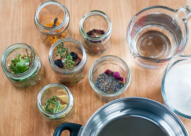 How To Make Flavored Syrups With Flowers + Fruit | HelloGlow.co