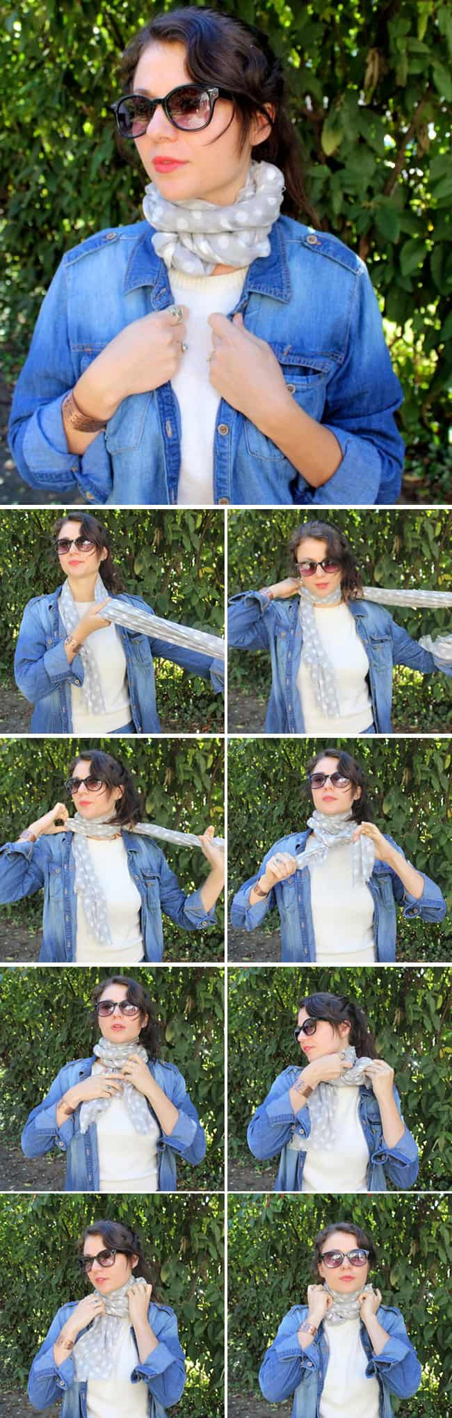 Cozy Neck Wrap | 13 stylish ways to tie a scarf | HelloGlow.co