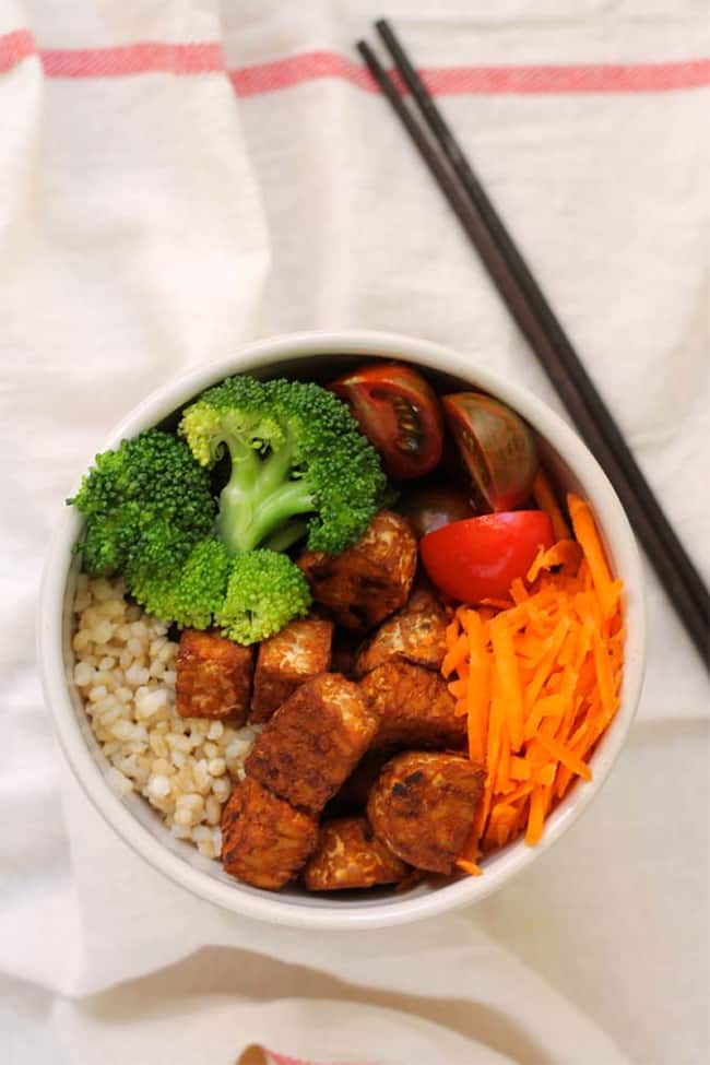 Baked Srirach Tempeh Bowl | 101 Healthy Lunches