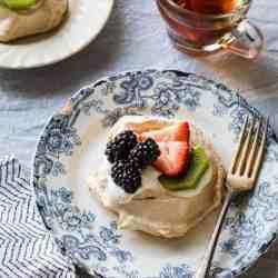 Easy Pavlova Recipe with Fresh Berries + Kiwi