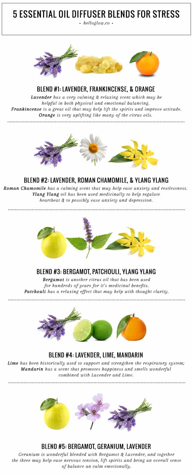 5 Essential Oil Diffuser Blends For Stress Hello Glow