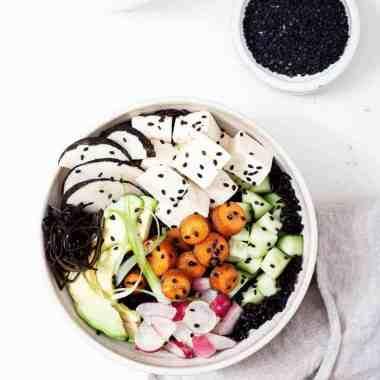 Tofu Poke Bowl With Sesame Glazed Carrots (+ $150 Circulon Cookware Giveaway)