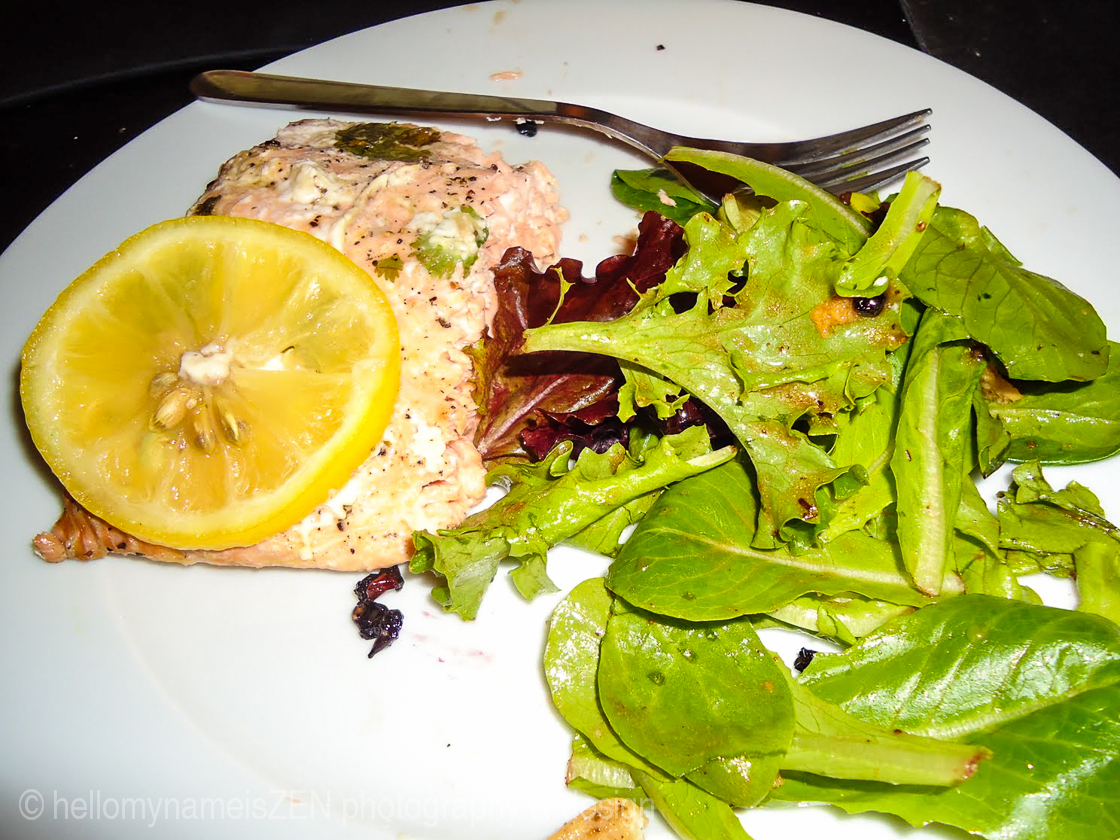 Grilled King Salmon with Lemon and Herbs