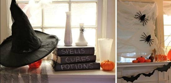 DIY Halloween Mantel | HelloNatural.co