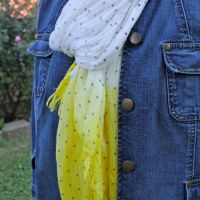 DIY Dip Dye Scarf | HelloNatural.co