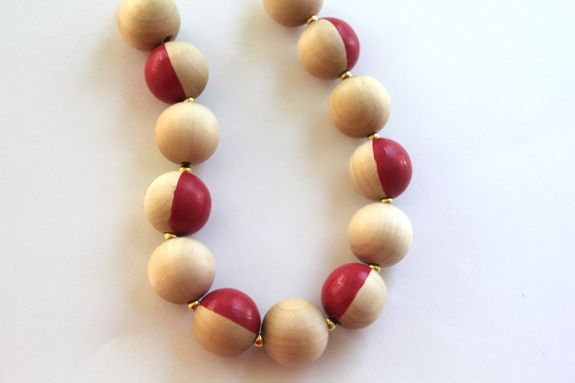 diy kate spade beaded necklace