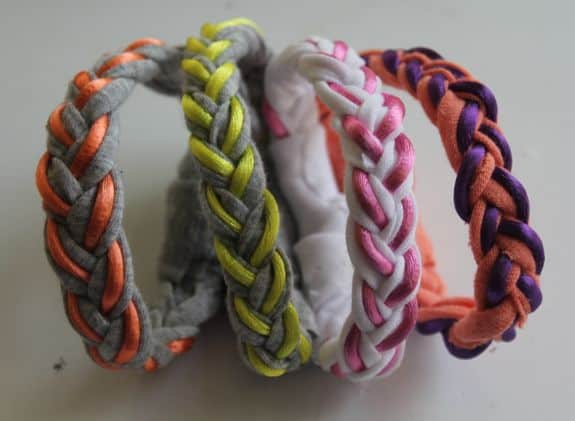 Braided T-Shirt DIY Bracelets | HelloNatural