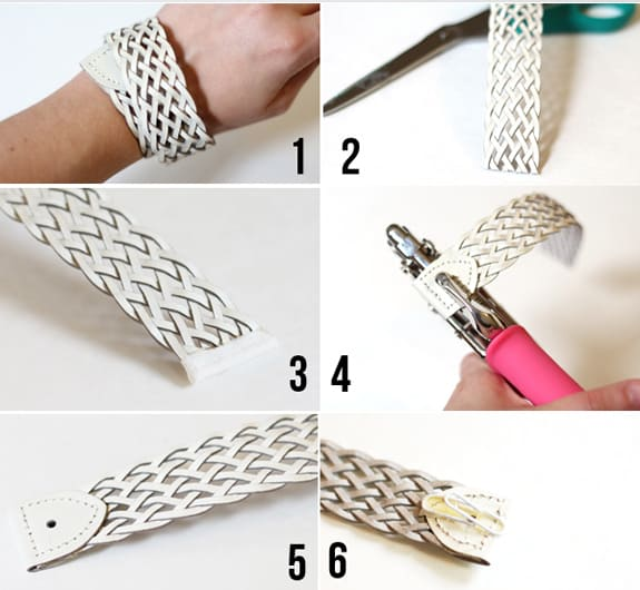 how to make a bracelet from a belt
