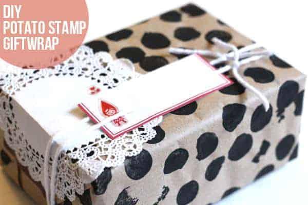 potato stamp giftwrap