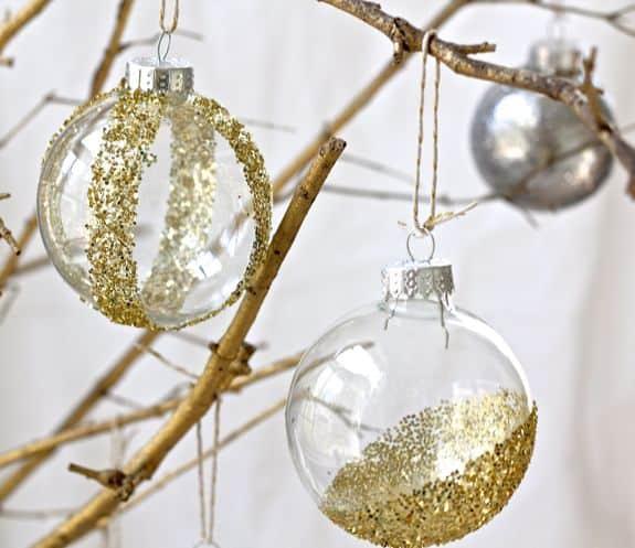 DIY Glitter Ornaments | HelloNatural.co