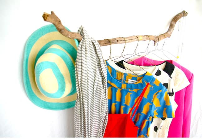 DIY Branch clothing rack