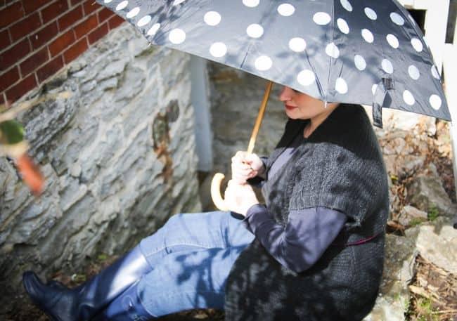 DIY Umbrella with Polka Dots