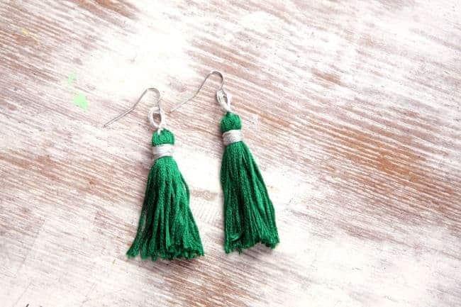 Emerald Tassel Earrings | Henry Happened
